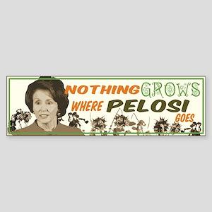 Nothing Grows-Pelosi Bumpersticker