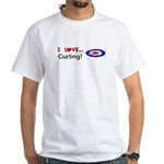 I Love Curling Men's Classic T-Shirts