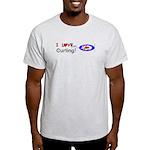 I Love Curling Light T-Shirt