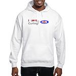 I Love Curling Hooded Sweatshirt