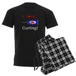 I Love Curling Men's Dark Pajamas