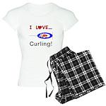 I Love Curling Women's Light Pajamas