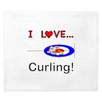 I Love Curling King Duvet