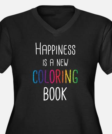 Happiness Is A New Coloring Book Plus Size T-Shirt