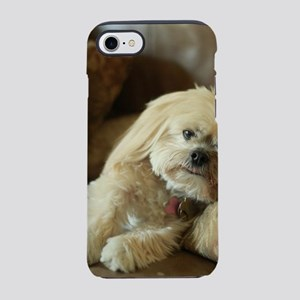 Koko the blond lhasa apso on s iPhone 7 Tough Case