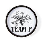 Team P Octopus 2009 Wall Clock