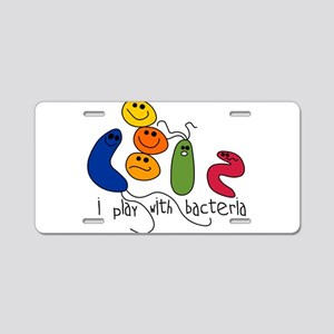 play bacteria w Aluminum License Plate