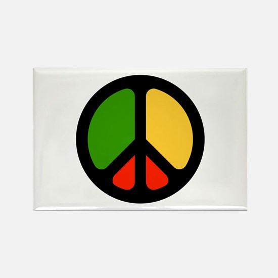 Rasta CND logo Rectangle Magnet
