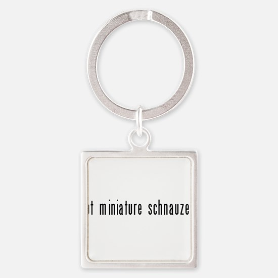 got miniature schnauzer black Keychains
