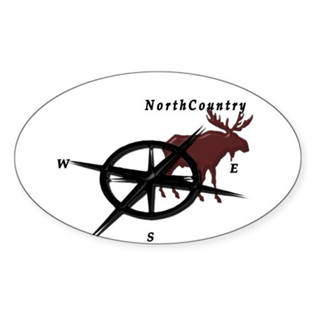 North country moose compass Sticker