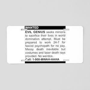 2-genius Aluminum License Plate