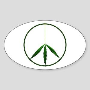 CND leaf Oval Sticker