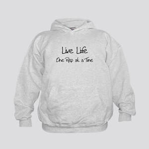 Live Life One Rep at a Time - Kids Hoodie