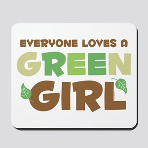Loves A Green Girl Mousepad