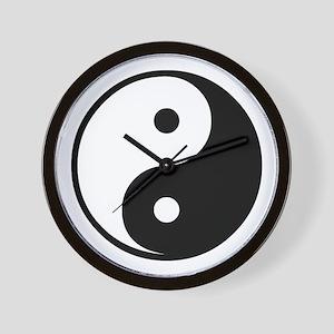 Black Yin-Yang Wall Clock