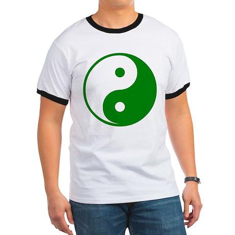 Green Yin-Yang Ringer T