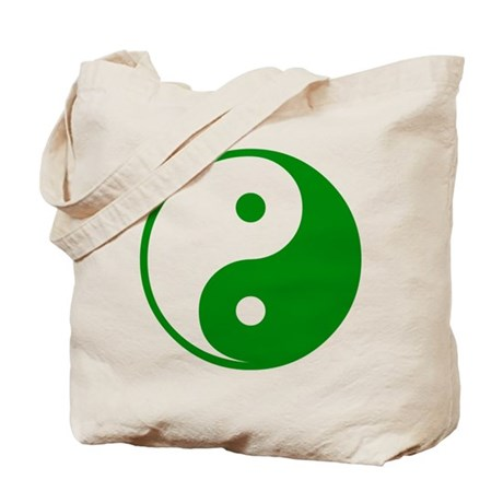 Green Yin-Yang Tote Bag