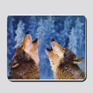 """""""Howling Wolves"""" Mousepad"""