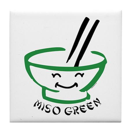 Miso Green Tile Coaster