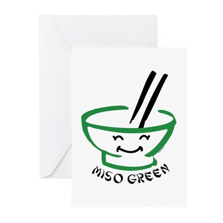 Miso Green Greeting Cards (Pk of 20)