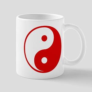 Red Yin-Yang Mug