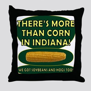 Indiana Corn Throw Pillow