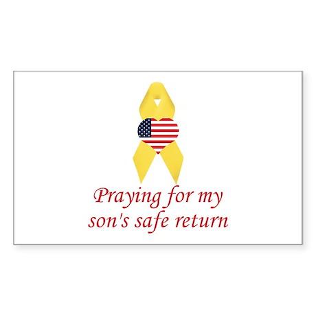 Son's Safe Return Rectangle Sticker