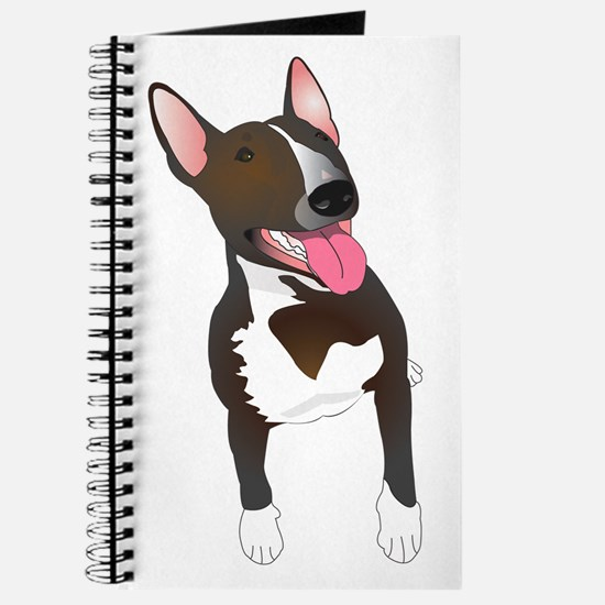 Cute English bull terrier Journal