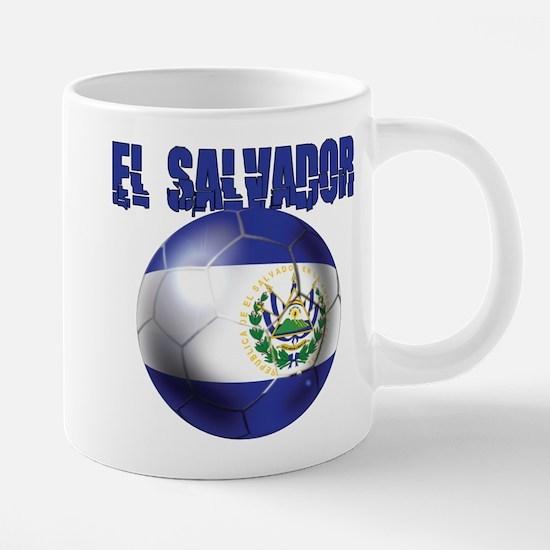 Futbol de El Salvador 20 oz Ceramic Mega Mug