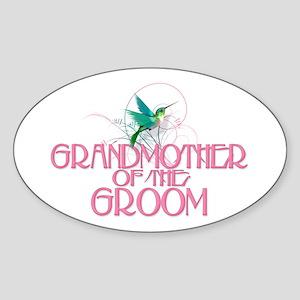 Hummingbird Grandmother Groom Oval Sticker