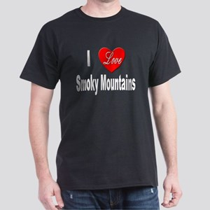 I Love Smoky Mountains (Front) Black T-Shirt