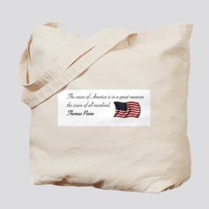 America the Cause of all Mank Tote Bag