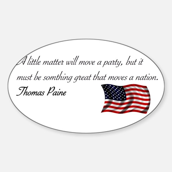 Moving a Nation Oval Decal
