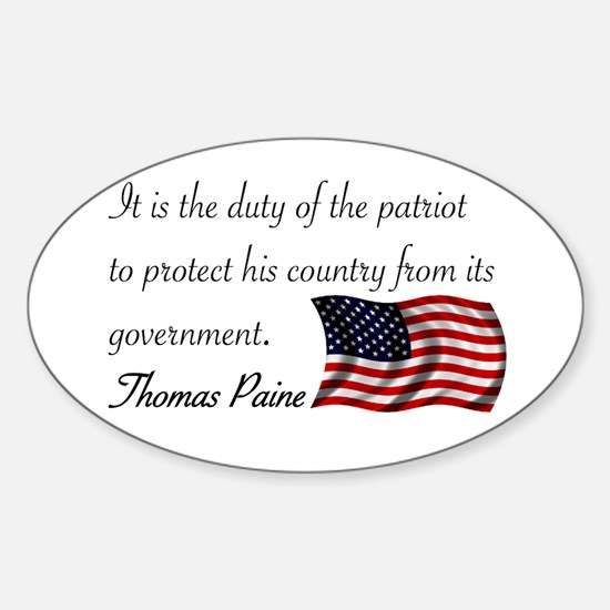 Duty of a Patriot Oval Decal
