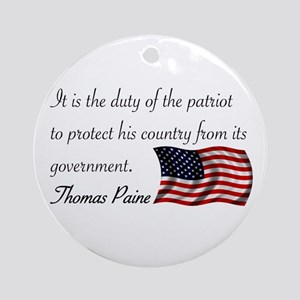 Duty of a Patriot Ornament (Round)
