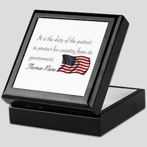 Duty of a Patriot Keepsake Box