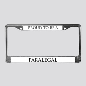 Proud Paralegal License Plate Frame