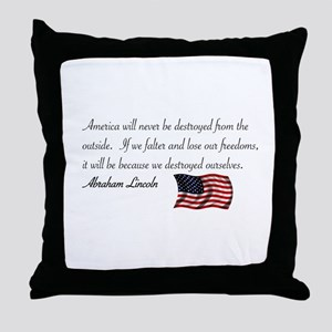 If We Falter Throw Pillow