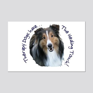 Therapy Dogs...Healing Touch Mini Poster Print