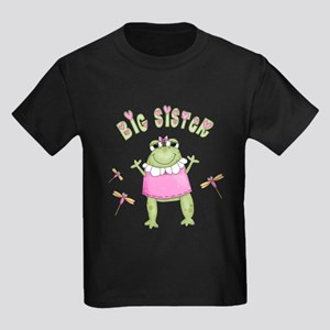 Froggy Big Sister Kids Dark T-Shirt