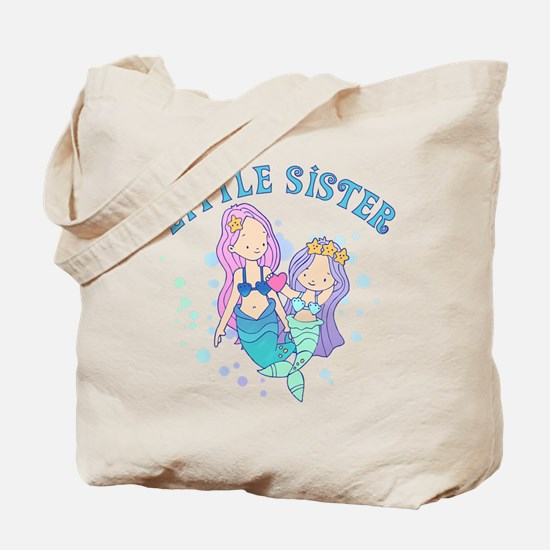 Cute Mermaids Little Sister Tote Bag
