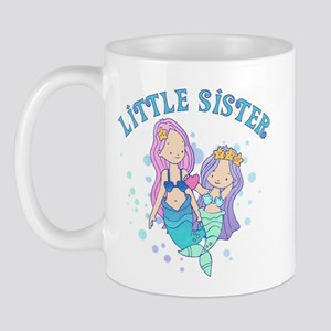 Cute Mermaids Little Sister Mug