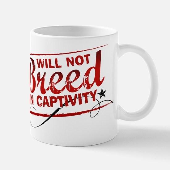 Will Not Breed in Captivity Mug
