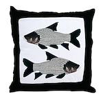 Giant carp barb Throw Pillow