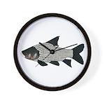 Giant carp barb Wall Clock