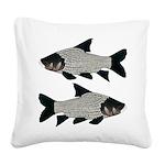 Giant carp barb Square Canvas Pillow