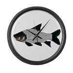 Giant carp barb Large Wall Clock