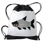 Giant carp barb Drawstring Bag