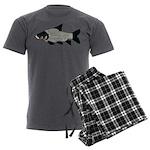 Giant carp barb Men's Charcoal Pajamas