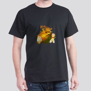 Flaming Bowling Ball Dark T-Shirt